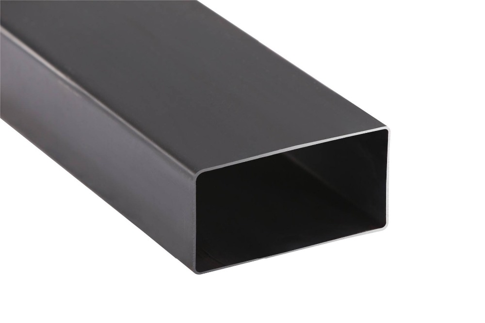 SS400 oiled black square steel pipe /tube Building Material of Black Square Pipes