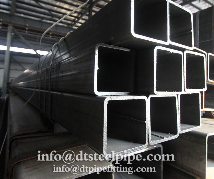 Ms square steel pipe price/ black steel tube hollow section pipe